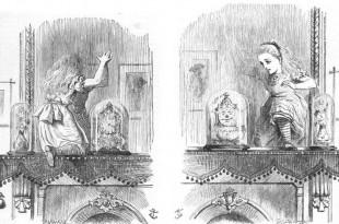 Alicia a través del espejo. Ilustración de John Tenniel
