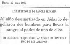 Recorte prensa de la época. Diario La Voz, edición 27 de junio de 1933.