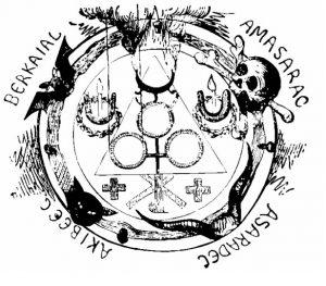 círculo goético de las evocaciones negras y los pactos. del libro Dogma y ritual de la Alta Magia, de Eliphas Levi